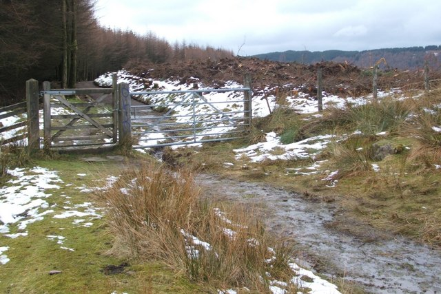 Gate on the Stoneymollan Road footpath