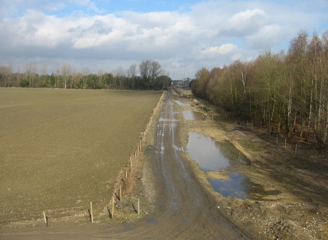 Giant puddles on the guided busway to be
