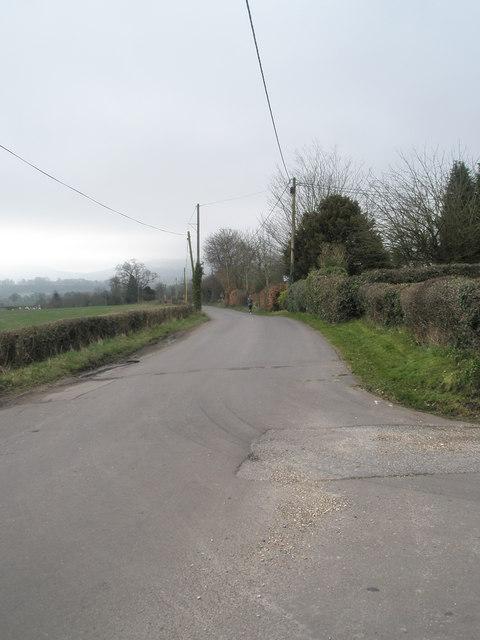 Distant jogger in Ridge Common Lane