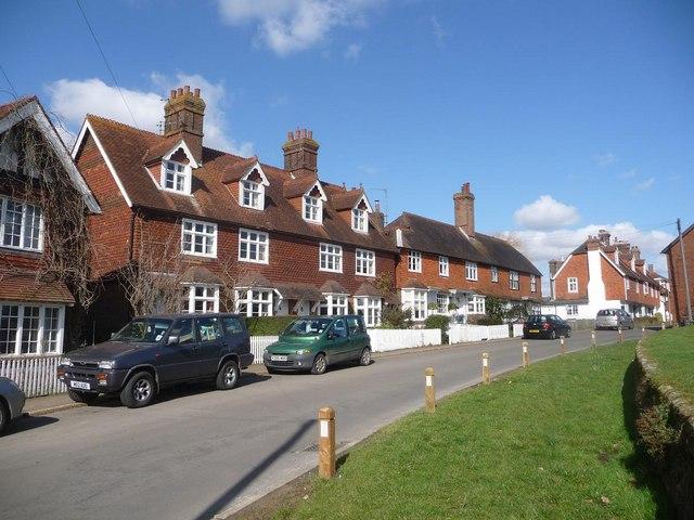 Ticehurst: houses on Church Street