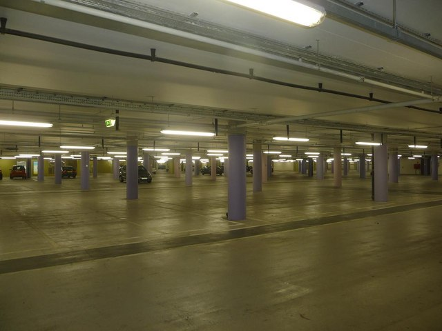 Westfield Shopping Centre: lower level car park