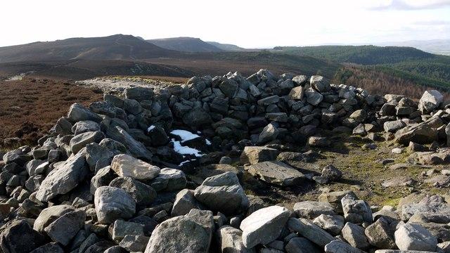 Summit cairn on The Beacon, Simonside Hills