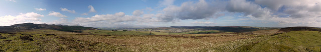 270 degree panorama from Lordenshaw hillfort