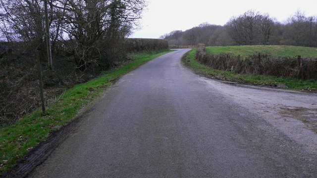 Junction of track to Dale's farm with road east of Northchapel