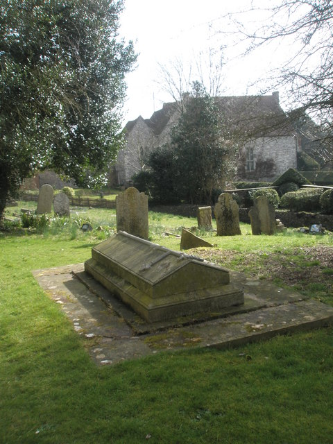 Tomb in front of All Saints, East Meon