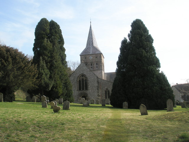 West side of All Saints, East Meon
