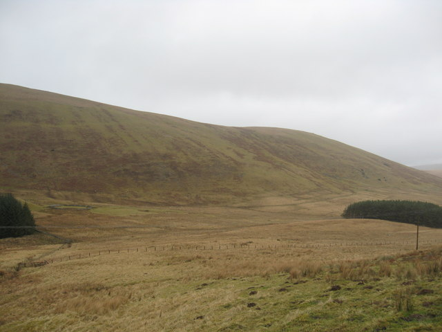 A view over rough grazing lands in the Borders
