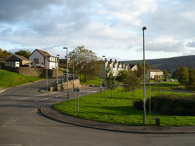 Junction of Hill Street and Duffryn View, Rhymney