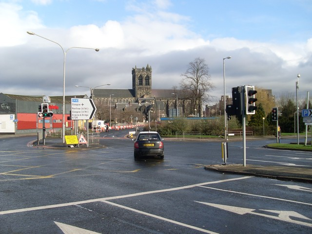 Paisley Abbey from Bridge Street