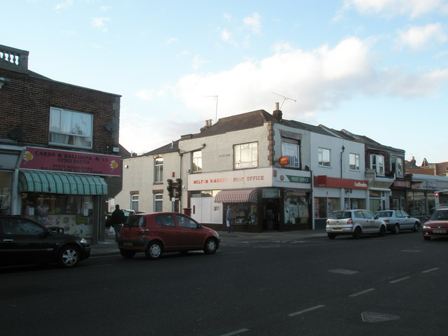 Looking across Eastney Road towards Milton Market Post Office