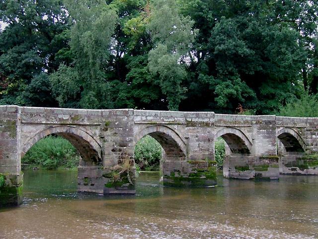 The Essex Bridge (part) at Shugborough, Staffordshire