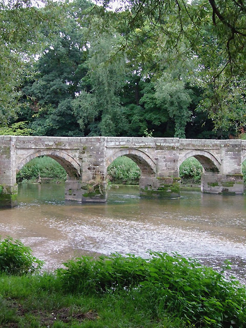 The Essex Bridge (part) at Shugborough, Staffordshire