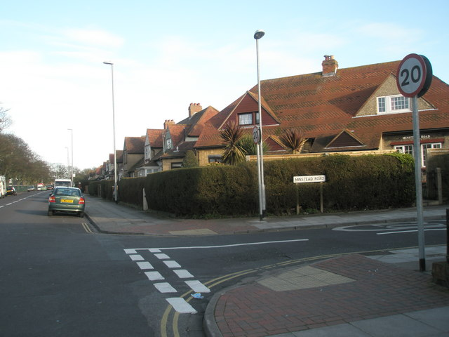 Junction of Bransbury and Minstead Roads