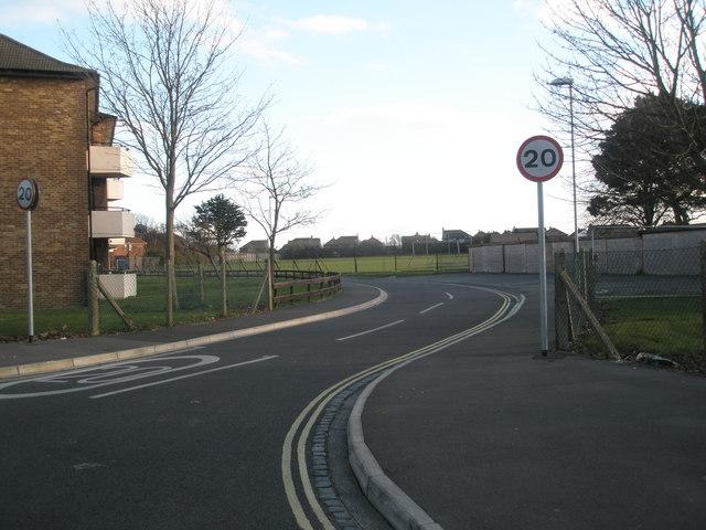 Bend in Halliday Crescent