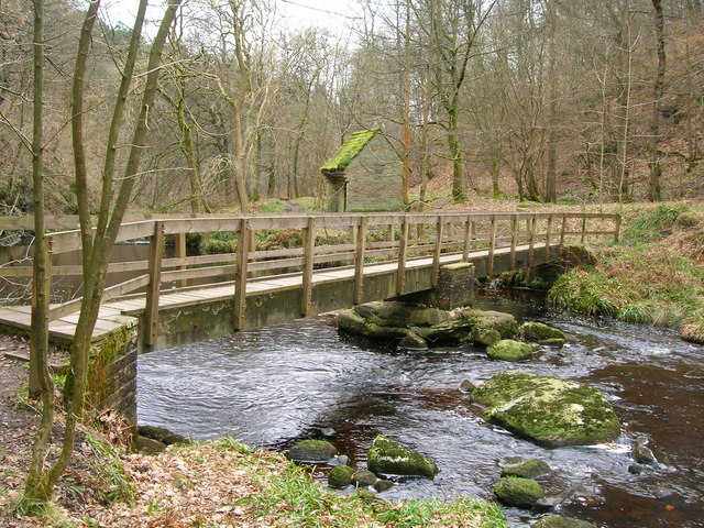 Footbridge over Hebden Water