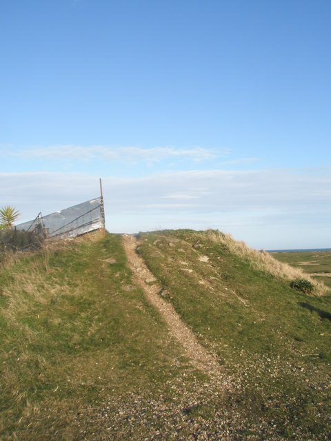 Path between Eastney Beach and the Mobile Home Park