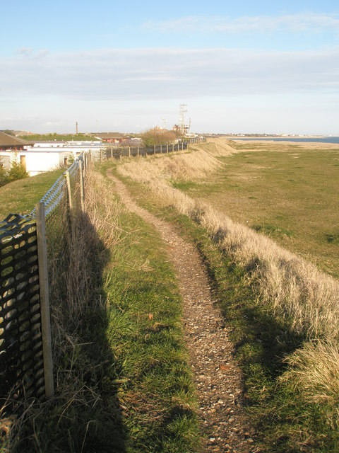Looking towards a mast within Fort Cumberland