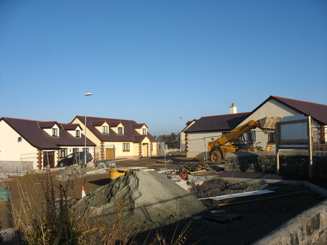 Maes Capel - a new housing estate on the western outskirts of Cemaes