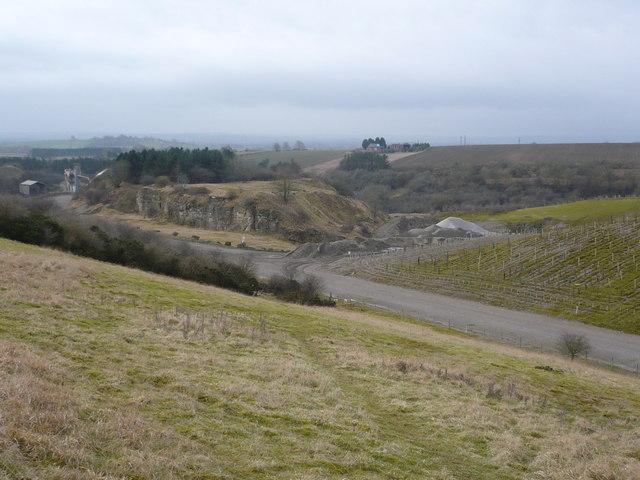 Spaunton limestone quarry
