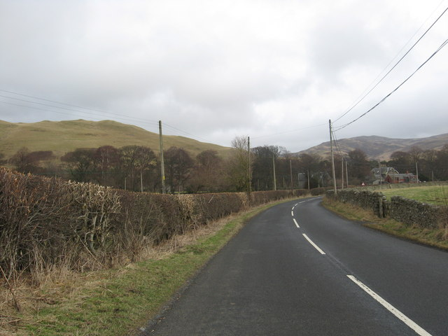 The A708 heading in to Yarrow