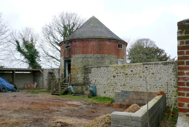 Old Round Building at Minterne Parva