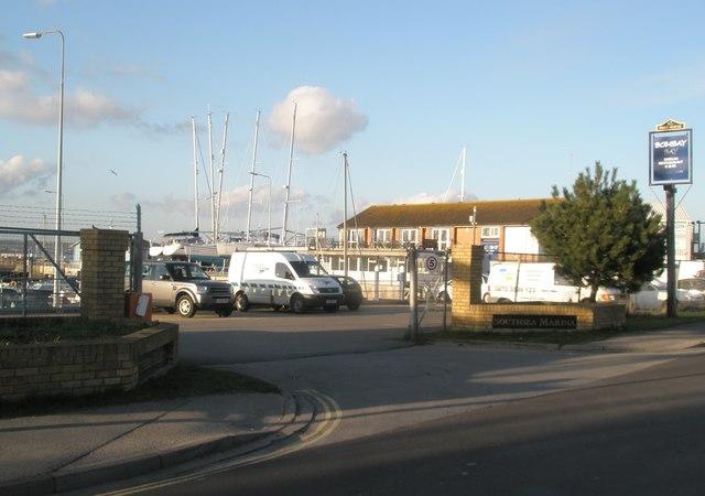 A coincidence concerning Southsea Marina