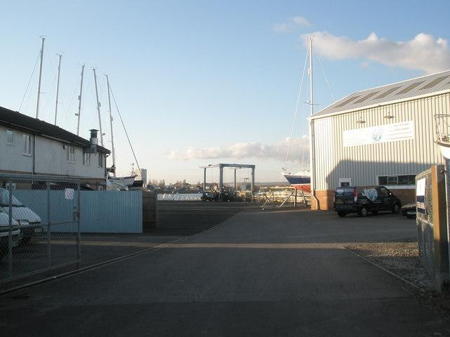 Boat crane at Southsea Marina