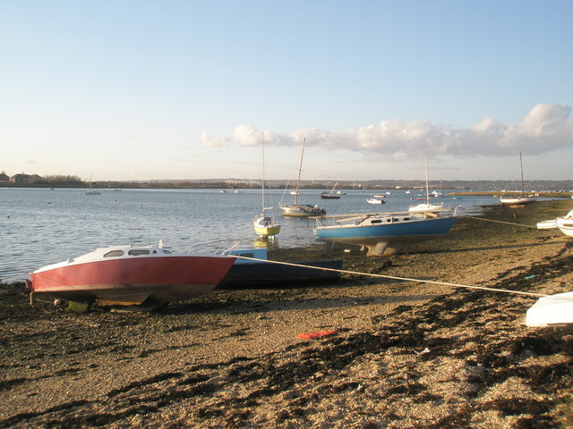 Moored boats by Eastney Lake