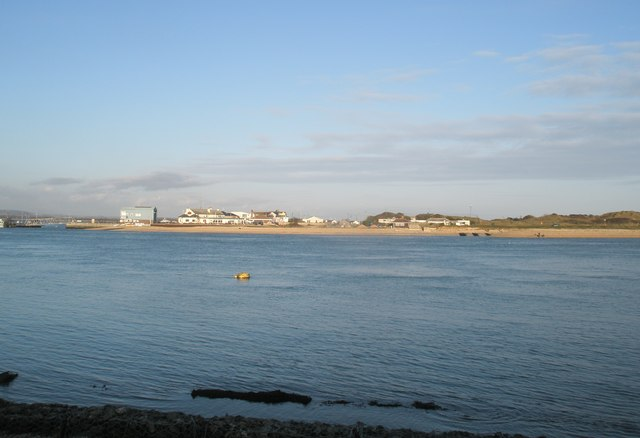 Looking across from the RNLI building at Eastney towards Hayling Island