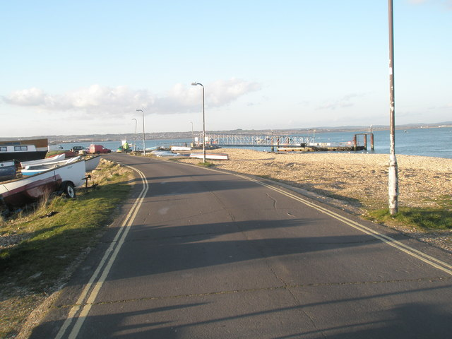 Approaching the jetty for the Hayling Ferry at Eastney