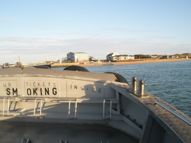 "Looking from onboard the ""Pride of Hayling"" towards the jetty at Sinah Common"