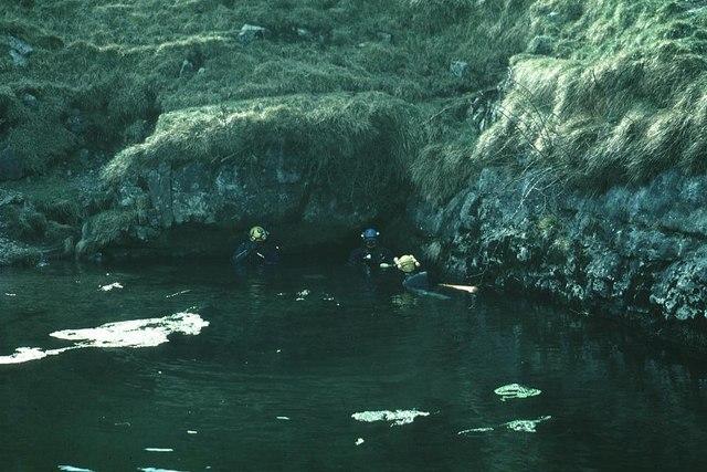 Cave Divers at Keld Head