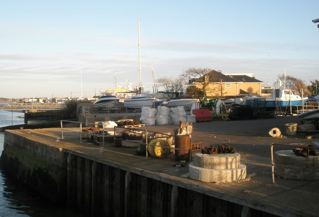 The quayside at Hayling Ferry Terminal