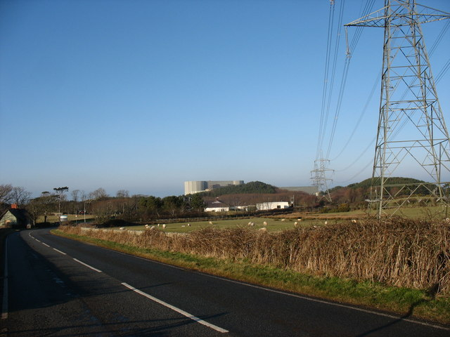 Wylfa Nuclear Power Station from the south