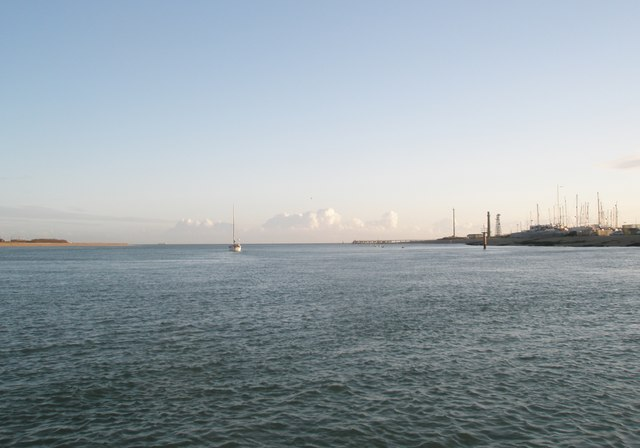 """View from the """"Pride of Hayling"""" ferry looking down Langstone Channel"""