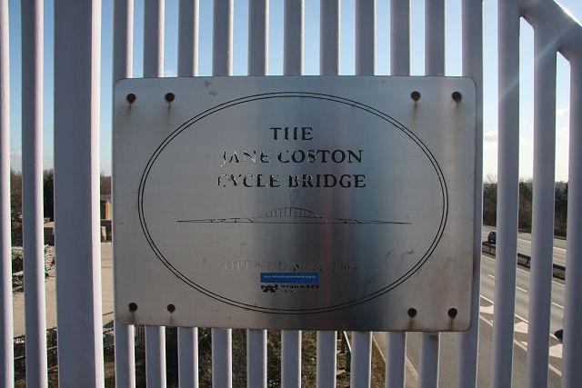 Plaque on Cycle Bridge