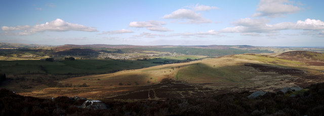 Panoramic view below The Beacon