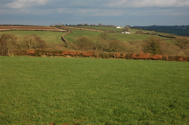 Farmland above the Dalch Valley