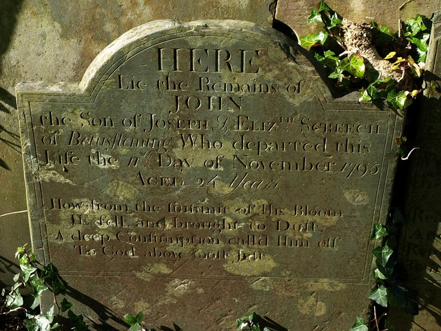 Gravestone, St Stephens churchyard