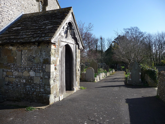 St Mary's Sompting churchyard