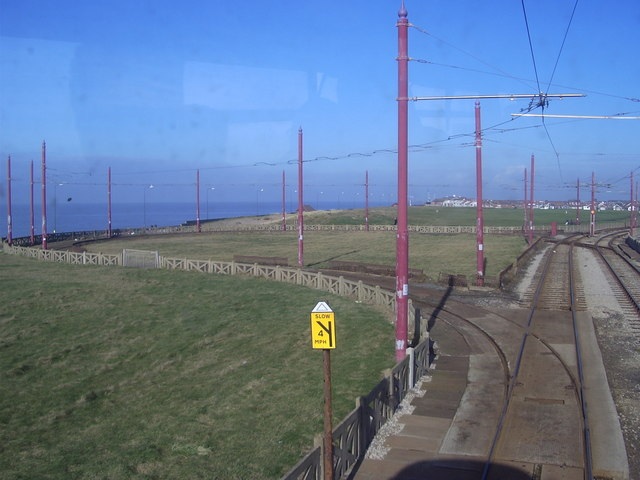 Little Bispham tram turning loop.