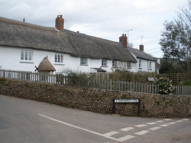 Cottages, on Church Road, Colaton Raleigh