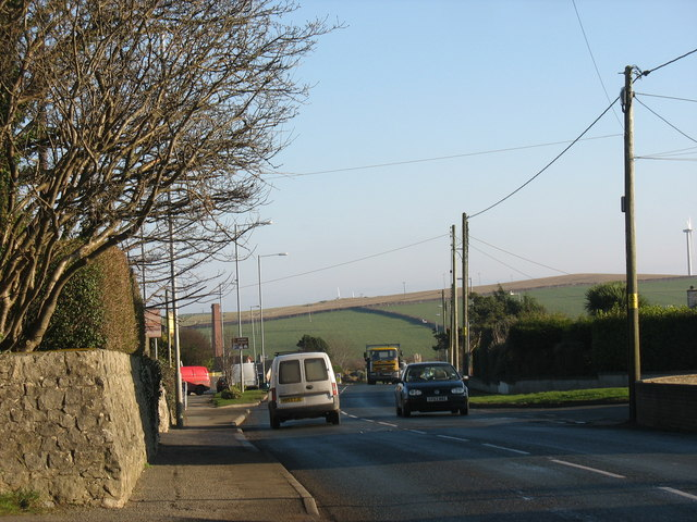 View east along Holyhead Road