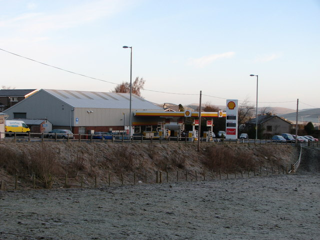 Ladylands Filling Station on the outskirts of Selkirk