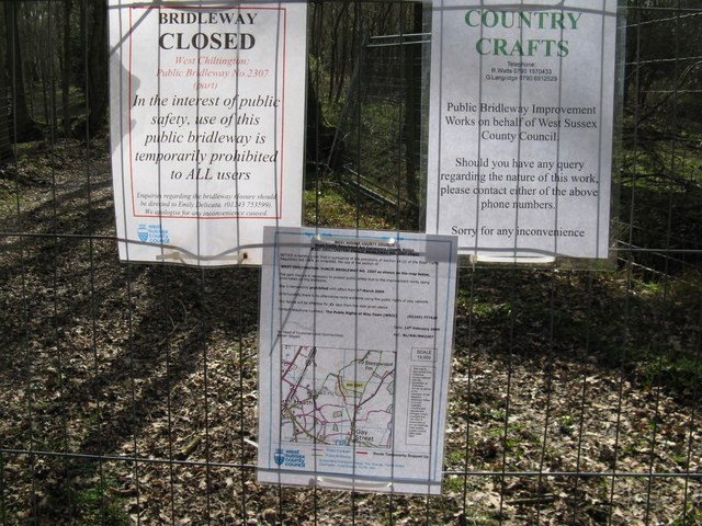 Bridleway closure notice