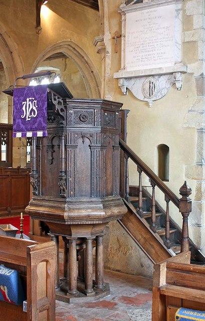 All Saints, Biddenden, Kent - Pulpit