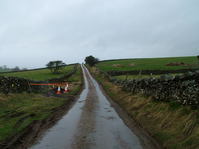 Wet road on Browber Hill
