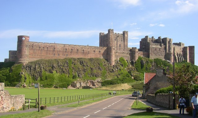 Bamburgh Castle on the North Sea Coast