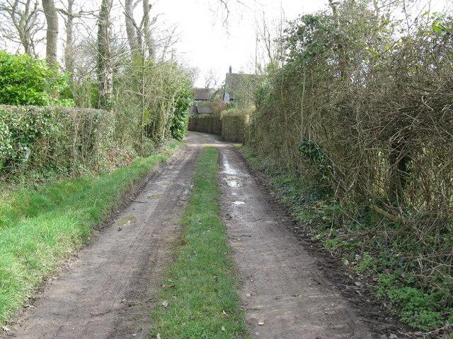 Footpath and track near Marringdean House