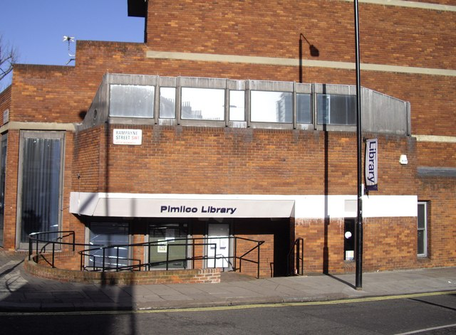 Pimlico Library Entrance